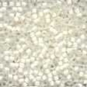 Frosted Glass Beads 60479 - Frosted White
