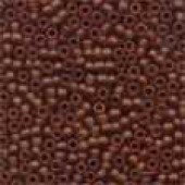 Frosted Glass Beads 62023 - Frosted Root Beer