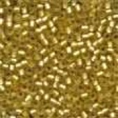 Frosted Glass Beads 62031 - Frosted Gold
