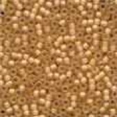 Frosted Glass Beads 62040 - Frosted Apricot