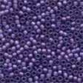 Frosted Glass Beads 62042 - Frosted Royal Purple