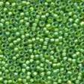 Frosted Glass Beads 62049 - Frosted Spring Green