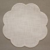 20cm Flower Crochet Doilies - White 20x20cm (7.5x7.5 inches)