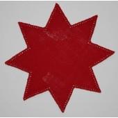 20cm Star Crochet Doilies - Christmas Green 20cm / 7.5in
