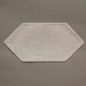 25cm Facette Doilies - Cream - White 25 x 12cm / 10 x 5in