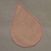 16cm Teardrop Crochet Doilies - Green 16 x 24cm / 6.5 x 9.5in
