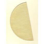 22cm Half Circle Doilies - Cream 22 x 11cm / 8.5 x 4.5in