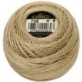 DMC Pearl / Perlé  Cotton: Size 8 80m ball - 738