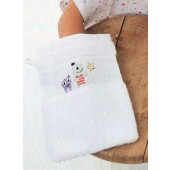 Rico Baby Towelling Wash Mitt - White