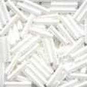 Medium Bugle Beads 80479 - White