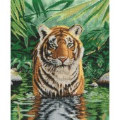 BK1151 - Tiger Pool Cross Stitch Kit
