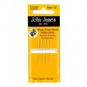 John James Short Bead Embroidery Needles - Size 10