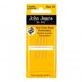 John James Ball Point Embroidery Needles - Size 12