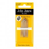 John James Embroidery Needles - Size 3/9