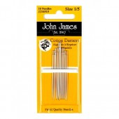 John James Cotton Darner Needles - Size 3/9