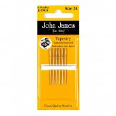 John James Nickel Plated Tapestry Needles - Size 22