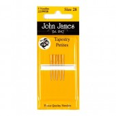 John James Petite Tapestry Needles - Size 28