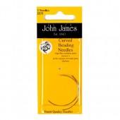 John James Curved Beading Needles - Size 10