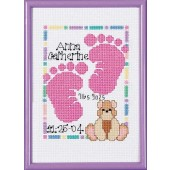 SGP-0603 - Baby Footprints Birth Announcement