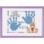 SGP-0604 - Baby Handprints Birth Announcement