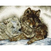 BK1186 - A Tale of Two Wolves Cross Stitch Kit