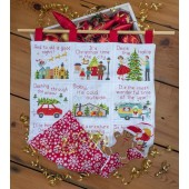Christmas Afghan Pack - FABRIC AND THREADS - issue 337.