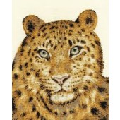 BK1188 - Amur Leopard Twilight Cross Stitch Kit