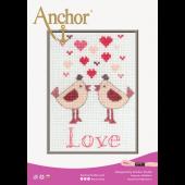 Anchor Lovebirds cross stitch chart