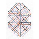 TB111 - Geometry Rules Right Angles Printed Embroidery Kit