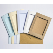 7 x 5in Aperture Cards & Envelopes - 5x Cream