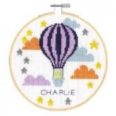 DMC Hello Baby Balloon Cross Stitch Kit - BK1910