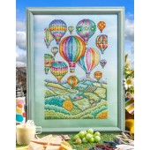Cross Stitcher Project Pack - Beautiful Balloons Meadow View - XST355