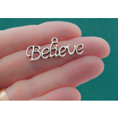 Believe Silver Tone Charms - 3 Pack