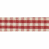 7mm Rustic Gingham Red