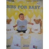 Leisure Arts Bibs For Baby Cross Stitch Chart Leaflet