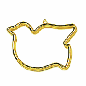 Plastic Bird Shaped Frame - Gold