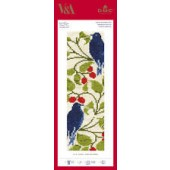BL1171/77 - V & A C F A Voysey - Bird and Berry Cross Stitch Bookmark Kit