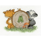 BK1192 - Woodland Folk - Initial Sampler Cross Stitch Kit