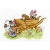 BL1032/65 - Woodland Folk - Wheelbarrow Ride Cross Stitch Kit