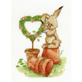 BL1034/65 - Woodland Folk - Gardening Time Cross Stitch Kit