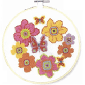DMC Blooms And Butterflies Cross Stitch Kit - BK1852