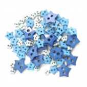 Craft Buttons - Blue Stars (2.5g Pack)