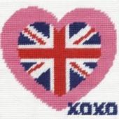 CK034 - British Heart Gobelin Printed Tapestry Starter Kit