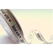 BTB039 - 16mm Baked with Love Cream Grosgrain Ribbon