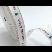 BTB202a - 9mm Happy Christmas Grosgrain Ribbon