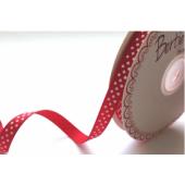 BTB301-04 - 9mm Red & White Dotty Grosgrain Ribbon
