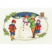 DMC BK1582 - Building a Snowman Cross Stitch Kit