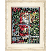 Dimensions Candy Cane Santa Cross Stitch Kit