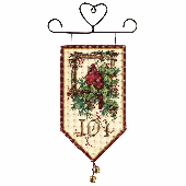 Dimensions Cardinal Joy Banner Cross Stitch Kit