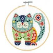 DMC Cat Cross Stitch Kit - BK1914